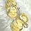 Thumbnail: Bonnet et chaussons de naissance jaune