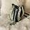 Thumbnail: Sac bourse olive bande velour et simili python