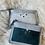Thumbnail: Portes monnaies plats avec poches tons gris