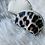Thumbnail: Porte monnaie arrondie chamois, léopard et beige