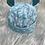 Thumbnail: Bonnet et chaussons de naissance bleu
