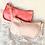 Thumbnail: Sac baguette croco rose pâle