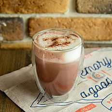 Hot Chocolate milk with marshmallow topping