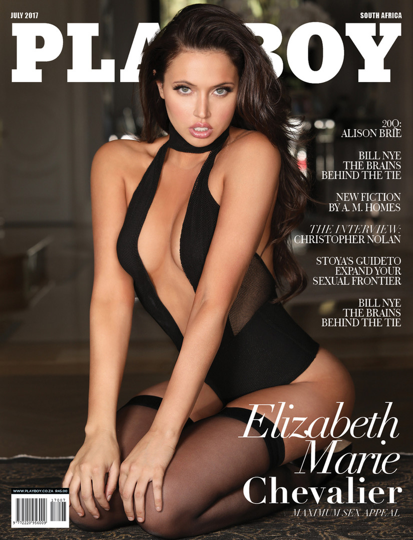 PLAYBOY South Africa Cover Elizabeth Chevalier