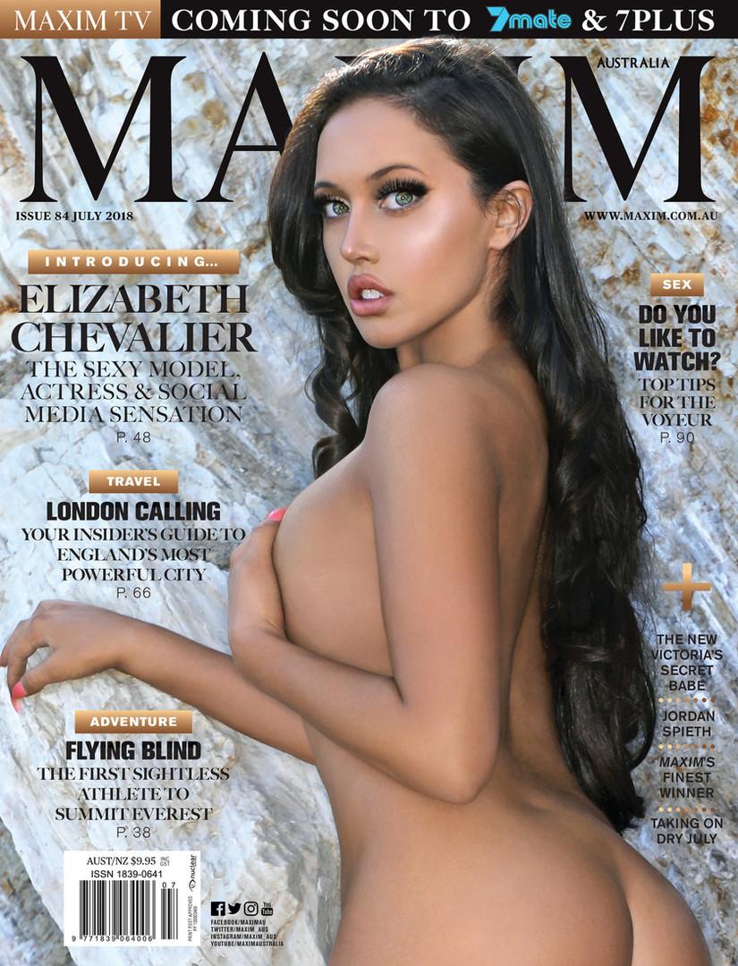 MAXIM AUSTRALIA Cover Elizabeth Chevalier