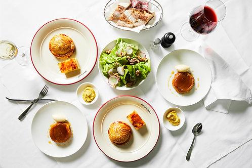 Végétarian Entrecôte, two courses for two