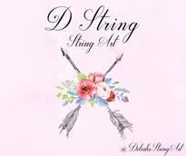 D String, String Art Logo