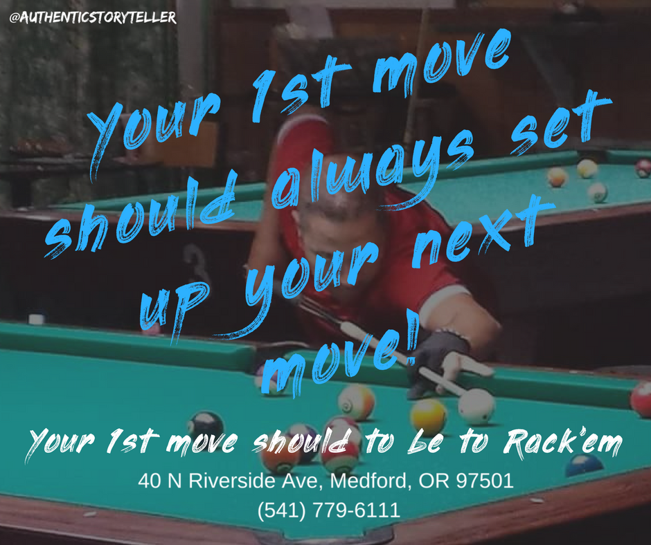 Your 1st move shold set up your next move