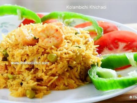 Kolambichi Khichadi ( Prawns Pulav )