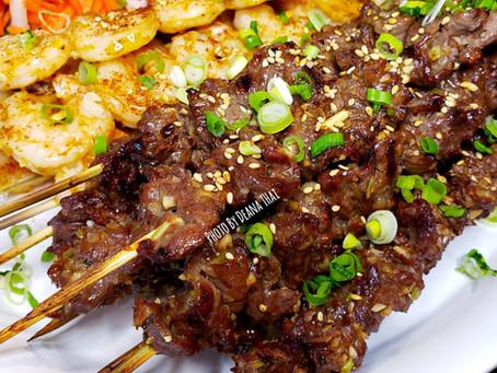 Deana's Grilled Skewered Beef & Shrimp