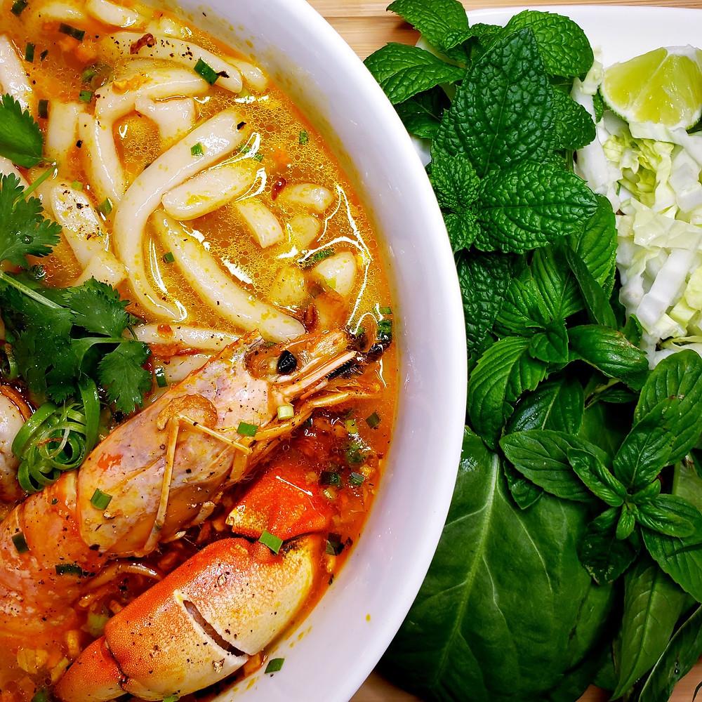 Vietnamese Shrimp & Crab Udon