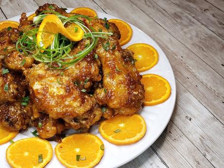 Airfry Orange Chicken Wings