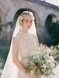 Bride in desert