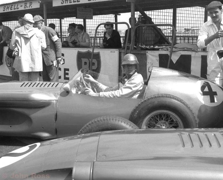 Aintree British Grand Prix | Carol Shelby (Aston Martin DBR4) - 1959
