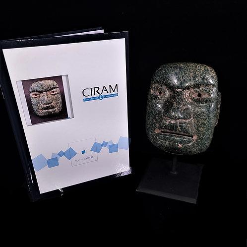Important Olmec Jadeite Mask