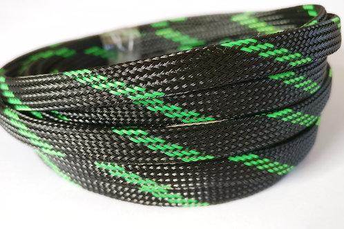 8mm wire braid/mesh - Black/Green