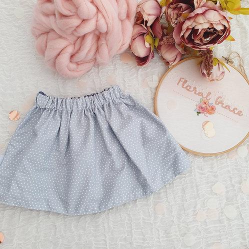 Grey hearts skirt