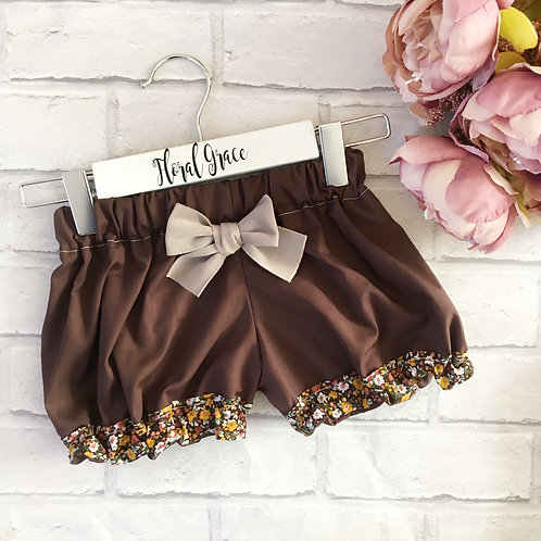 Block colour Bloomers - chocolate