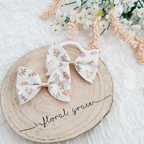 Spring florals bow
