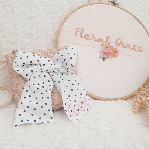 Personalised bow bag