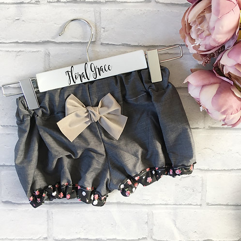 Block colour Bloomers - Charcoal