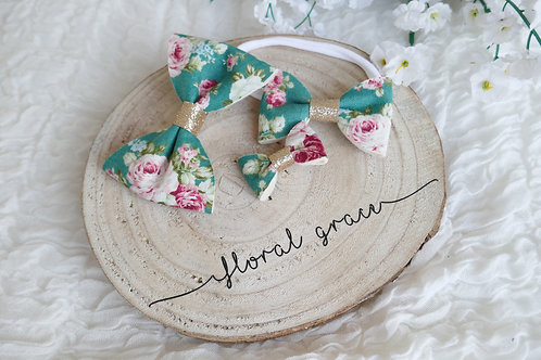Forest floral bow