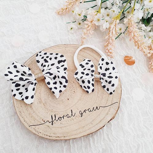 Dalmatian Fabric Bow