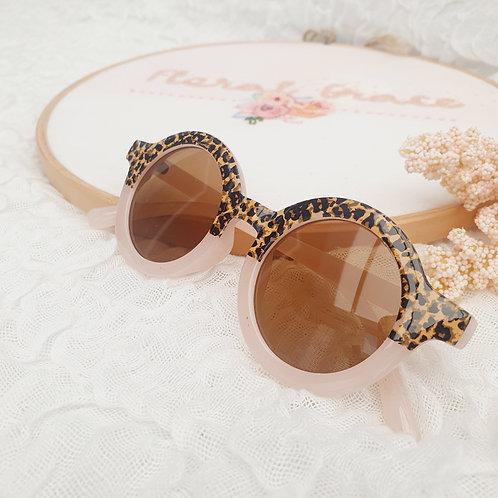 Leopard print younger kids sunglasses