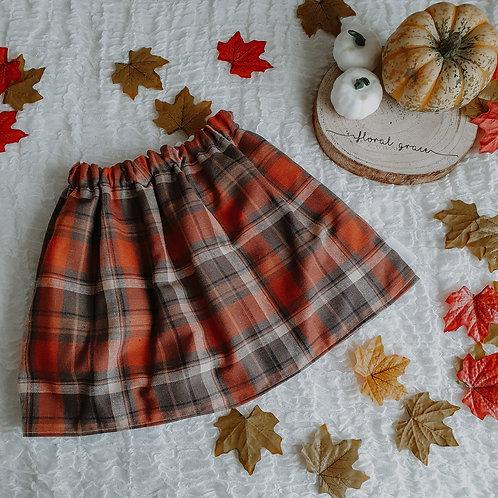 Autumn Tartan Skirt