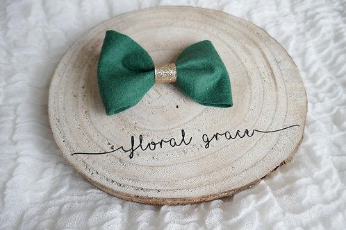 Emerald felt bow