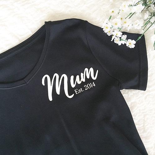 Mum tee (personalised - 3 colours)