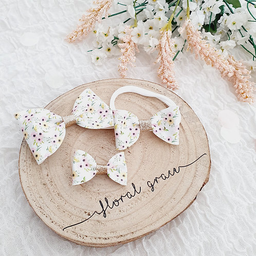 Posies leatherette bow