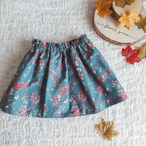Teal Butterfly Skirt