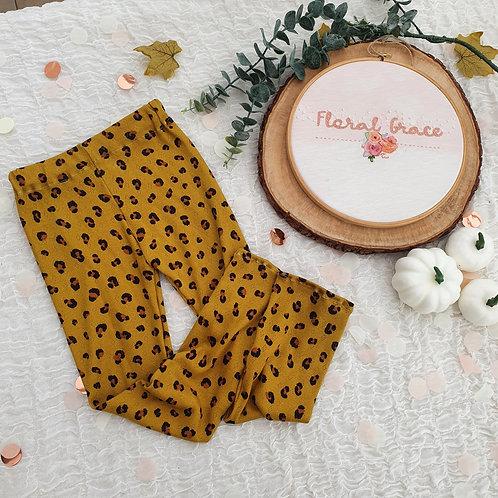Mustard leopard print leggings