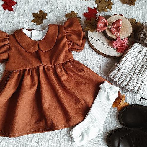 Rust Linen Dress