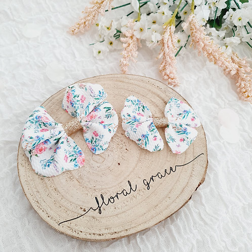 Floral Fabric Bow