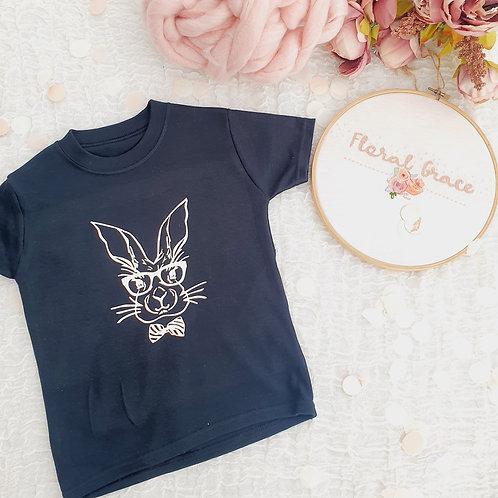 Bunny bowtie t-shirt