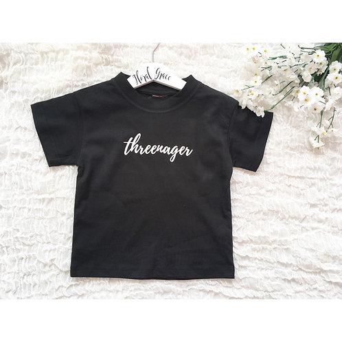 Threenager T-shirt (3 colours)