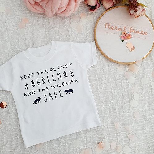Green & safe t-shirt