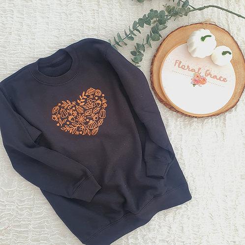 Autumn heart sweatshirt