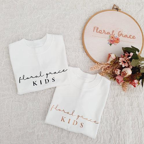 Floral grace kids t-shirt