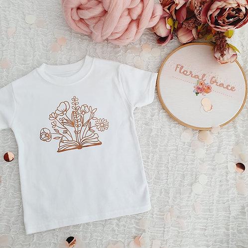Floral book t-shirt