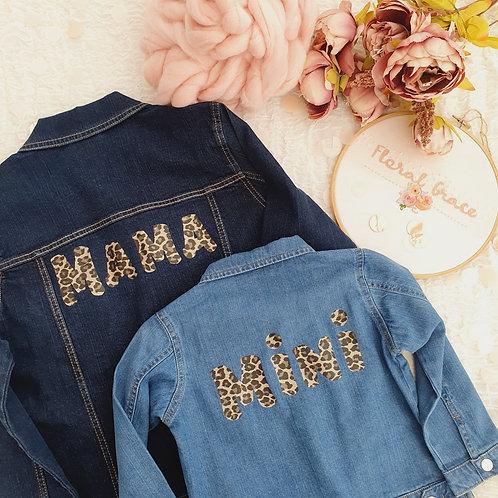 Mama and mini denim jacket