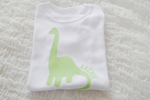 Personalised dinosaur tee