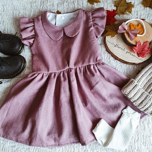 Mauve Linen Dress