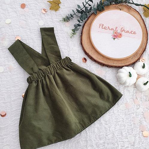 Khaki Corduroy skirt