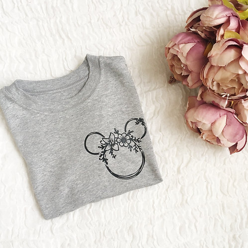 Adult - floral mouse tee