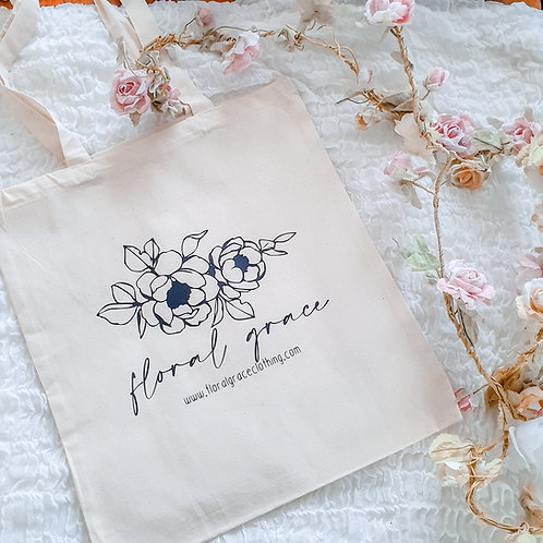 Floral Grace Tote bag