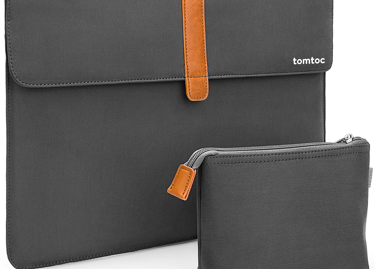 Envelope Sleeve with Accessory Pouch. Grey