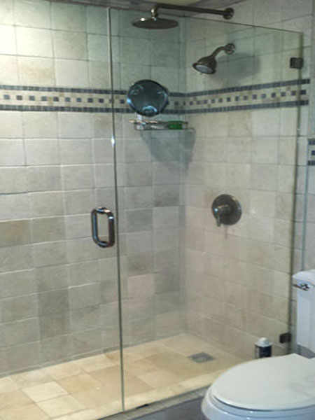 CONTEMPORARY GLASS SHOWER